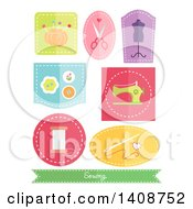 Flat Design Sewn Patches