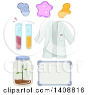 Clipart Of Science Lab Elements Royalty Free Vector Illustration by BNP Design Studio
