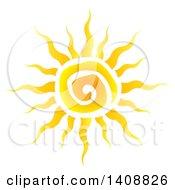 Yellow Spiral Summer Time Sun