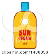 Clipart Of A Bottle Of Sun Block Royalty Free Vector Illustration