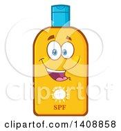 Bottle Of Sun Block Mascot