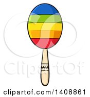 Clipart Of A Colorful Maraca Royalty Free Vector Illustration