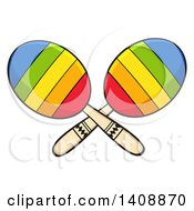 Clipart Of A Pair Of Maracas Royalty Free Vector Illustration by Hit Toon