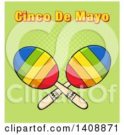 Pair Of Maracas With Cinco De Maya Text On Green