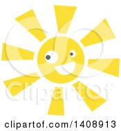 Clipart Of A Happy Sun Character Royalty Free Vector Illustration by Melisende Vector