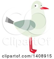 Clipart Of A Seagull Royalty Free Vector Illustration