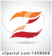 Wavy Letter Z Abstract Design