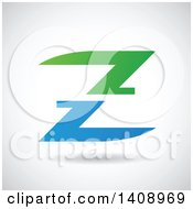 Split Letter Z Abstract Design
