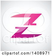 Clipart Of A Split Letter Z Abstract Design Royalty Free Vector Illustration