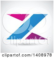 Triangular Letter Z Abstract Design