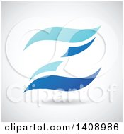 Clipart Of A Wavy Letter Z Abstract Design Royalty Free Vector Illustration
