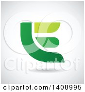 Bold Capital Letter E Abstract Design