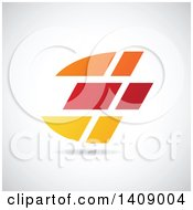 Bold Abstract Capital Letter E Abstract Design