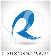 Clipart Of A Curvy Capital Letter R Abstract Design Royalty Free Vector Illustration by cidepix