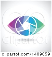 Clipart Of A Gradient Shutter Eye Design Royalty Free Vector Illustration by cidepix