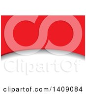 Clipart Of A Red And White Curve Business Card Or Background Design Royalty Free Vector Illustration