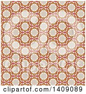 Clipart Of A Vintage Arabic Pattern Background Royalty Free Vector Illustration