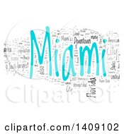 Miami Word Collage On White