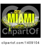 Clipart Of A Miami Word Collage On Black Royalty Free Illustration