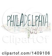 Clipart Of A Philadelphia Word Collage On White Royalty Free Illustration