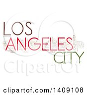 Clipart Of A Los Angeles Word Collage On White Royalty Free Illustration