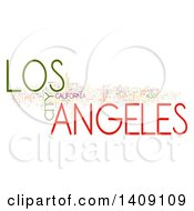 Clipart Of A Los Angeles Word Collage On White Royalty Free Illustration by MacX
