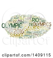 Clipart Of A Brazil Olympic Games Word Collage On White Royalty Free Illustration by MacX