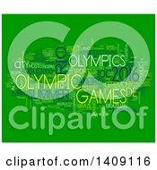 Clipart Of A Brazil Olympic Games Word Collage On Green Royalty Free Illustration