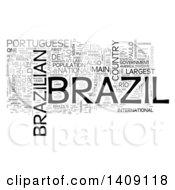 Clipart Of A Brazil Word Collage On White Royalty Free Illustration by MacX