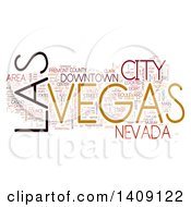 Clipart Of A Las Vegas Word Collage On White Royalty Free Illustration