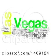 Las Vegas Word Collage On White