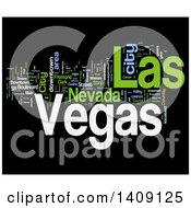 Clipart Of A Las Vegas Word Collage On Black Royalty Free Illustration