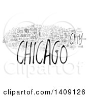 Clipart Of A Chicago Word Collage On White Royalty Free Illustration