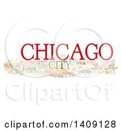 Chicago Word Collage On White