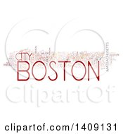 Clipart Of A Boston Word Collage On White Royalty Free Illustration by MacX