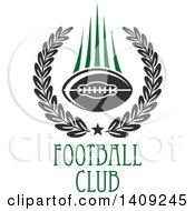 Green And Dark Gray American Football Design