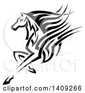 Black And White Tribal Horse