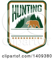 Clipart Of A Bear Hunting Design Royalty Free Vector Illustration