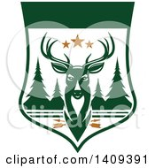 Clipart Of A Deer Hunting Design Royalty Free Vector Illustration by Vector Tradition SM