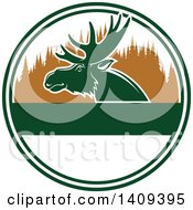 Clipart Of A Moose Hunting Design Royalty Free Vector Illustration by Vector Tradition SM