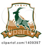 Clipart Of A Mountain Goat Hunting Design Royalty Free Vector Illustration by Vector Tradition SM