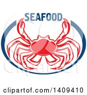 Clipart Of A Crab Seafood Design Royalty Free Vector Illustration