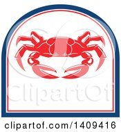 Clipart Of A Crab Seafood Design Royalty Free Vector Illustration by Vector Tradition SM