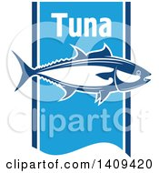 Clipart Of A Tuna Fish Seafood Design Royalty Free Vector Illustration