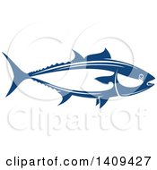 Clipart Of A Tuna Fish Seafood Design Royalty Free Vector Illustration by Vector Tradition SM
