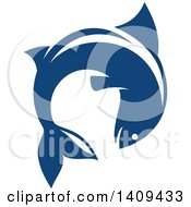 Clipart Of A Leaping Fish Seafood Design Royalty Free Vector Illustration by Vector Tradition SM