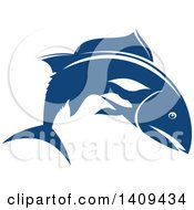Clipart Of A Salmon Seafood Design Royalty Free Vector Illustration
