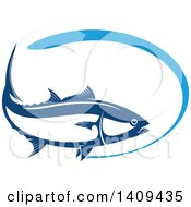 Clipart Of A Wild Alaskan Salmon Seafood Design Royalty Free Vector Illustration