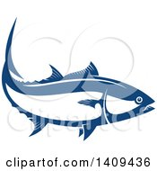 Clipart Of A Wild Alaskan Salmon Seafood Design Royalty Free Vector Illustration by Vector Tradition SM