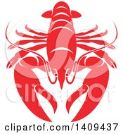 Clipart Of A Lobster Seafood Design Royalty Free Vector Illustration by Vector Tradition SM